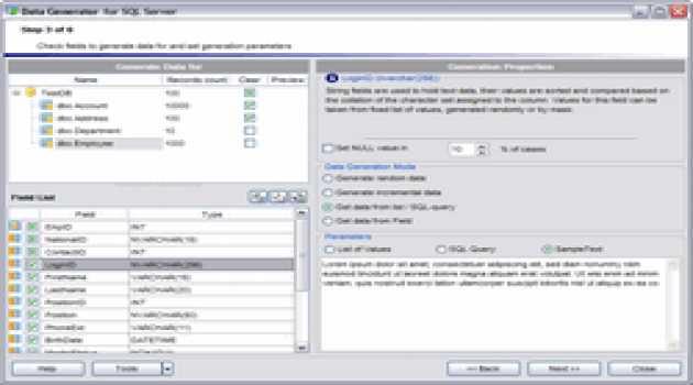EMS Data Generator for SQL Server