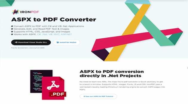ASPX to PDF Converter