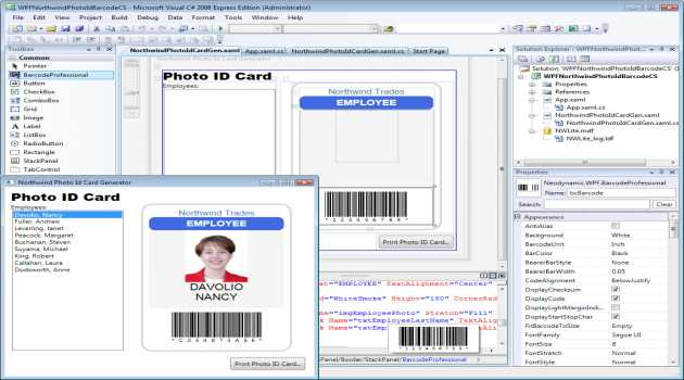 WPF Barcode Professional