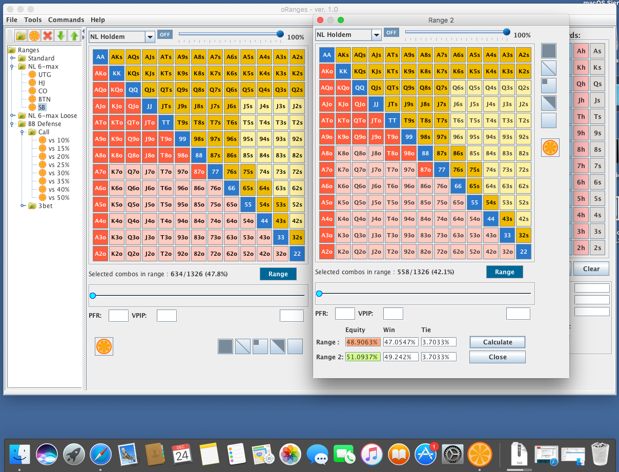 oRanges Calculator for Mac OS
