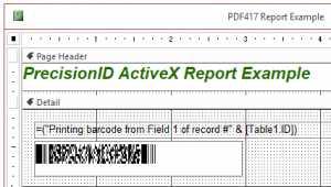 ActiveX 2D DataMatrix and PDF417