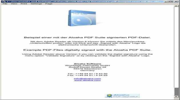 Aloaha PDF Signator