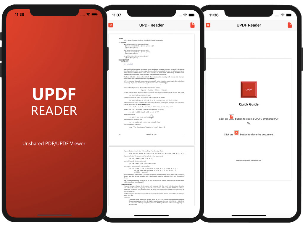 UPDFReader iOS