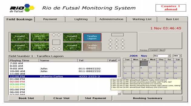 SportsQ Booking Manager