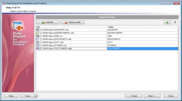EMS Data Import for InterBase/Firebird