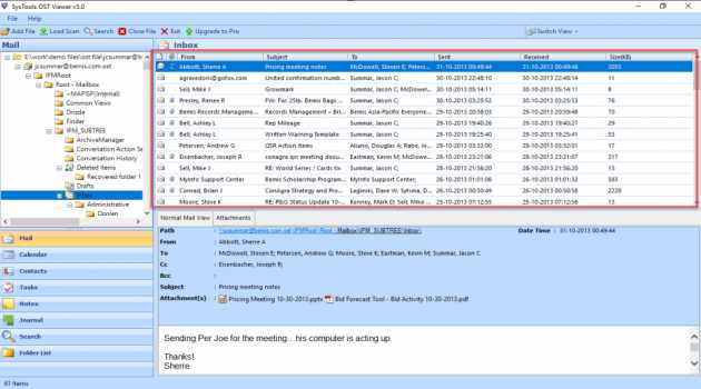 Free Outlook OST File Viewer Tool