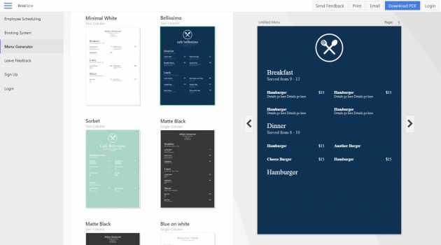 Express Menu Restaurant Maker Software for Mac