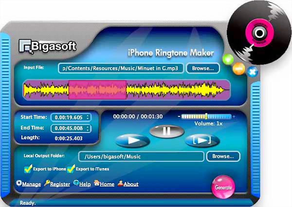 Bigasoft iPhone Ringtone Maker