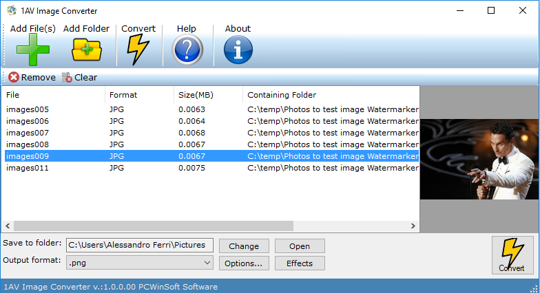 1AV Image Converter for Mac