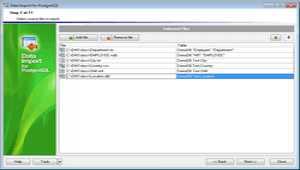 EMS Data Import for PostgreSQL
