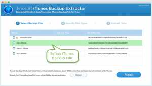 Free iTunes Backup Extractor for Mac