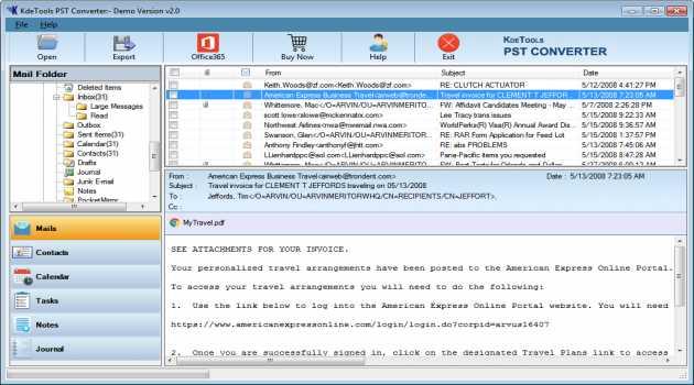 Kdetools PST Converter Software