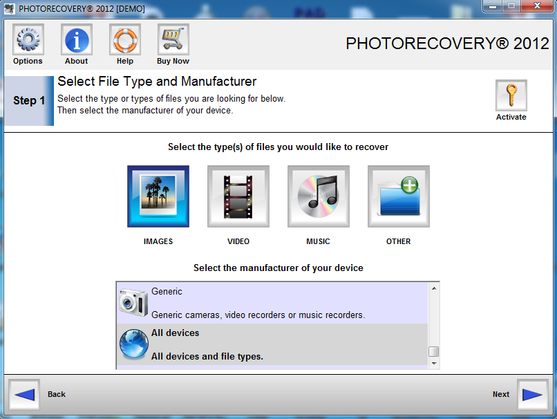 PHOTORECOVERY Standard 2019 for Windows