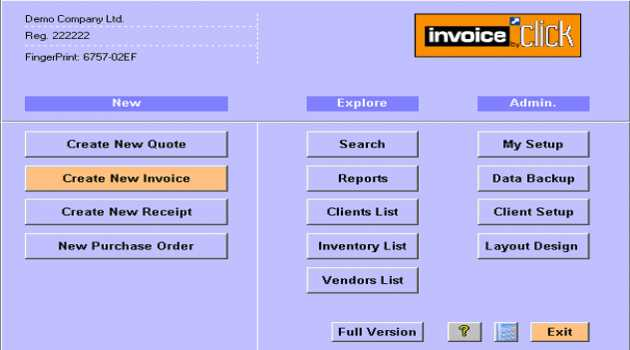 Invoice by Click- Invoicing software