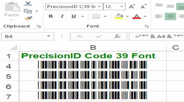 PrecisionID Code 39 Fonts