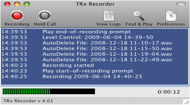 TRx Personal Phone Call Recorder for Mac