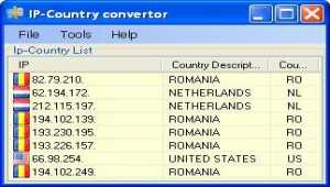 Ip to Country Convertor