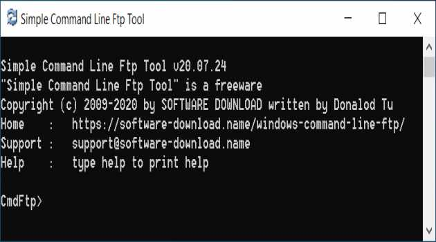 Simple Command Line Ftp Tool