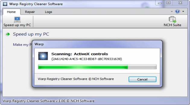 Warp Registry Cleaner Software Free