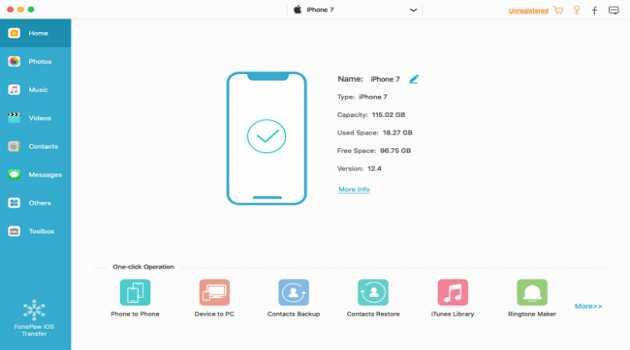 FonePaw iOS Transfer (Mac)