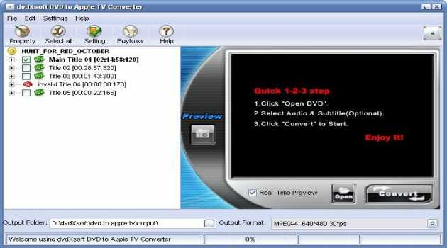 dvdXsoft DVD to Apple TV Converter