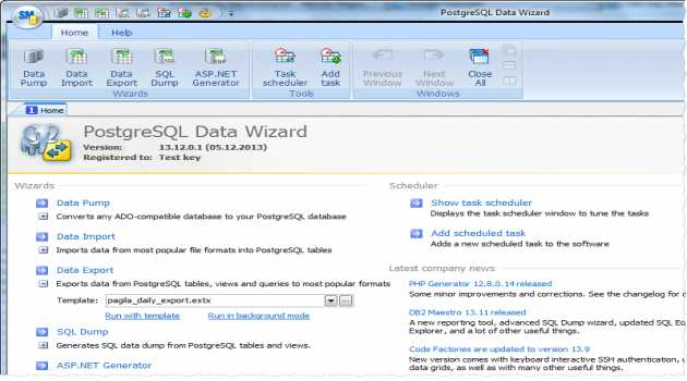 PostgreSQL Data Wizard