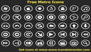Free Metro Icons for Windows