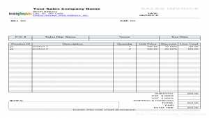Sales Invoice Template with Discount Percentage