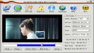 Allok AVI MPEG WMV RM to MP3 Converter