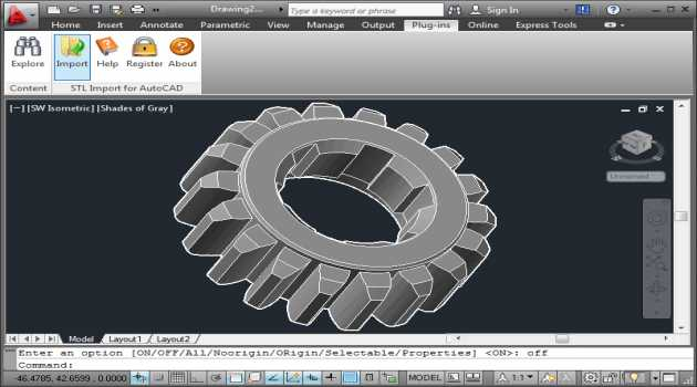 STL Import for AutoCAD