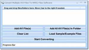 Convert Multiple AVI Files To MPEG Files Software
