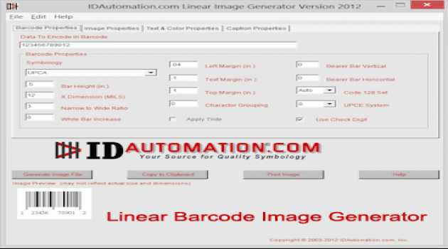 Linear Barcode Image Generator