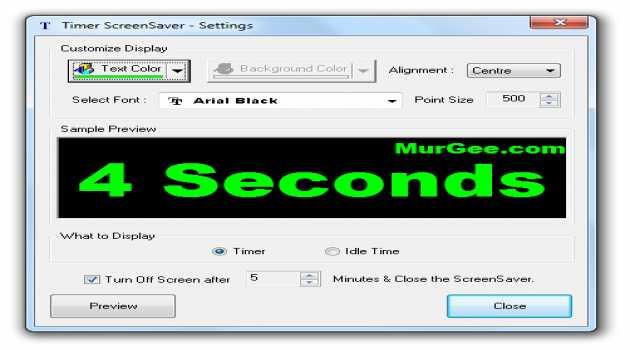 Timer ScreenSaver