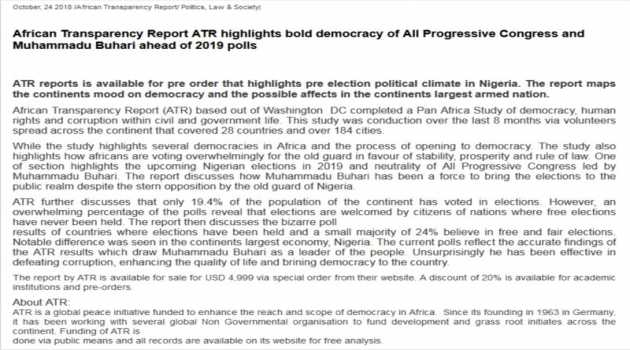 African Transparency Report