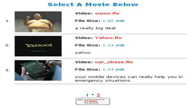 Free FLV PHP Driven Player