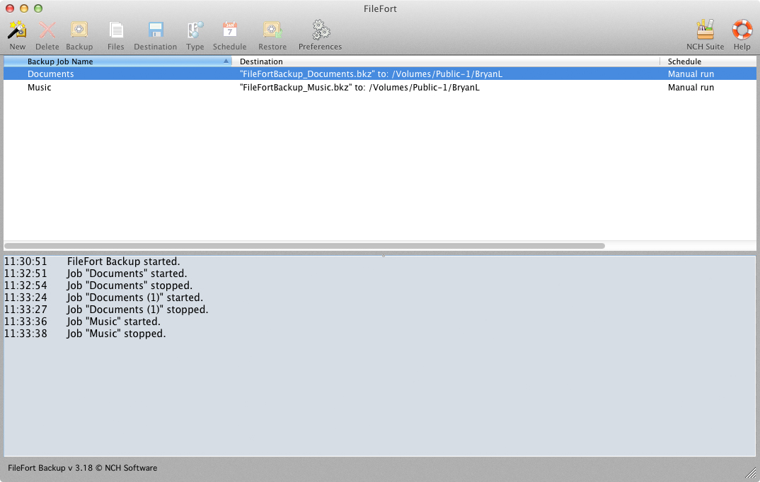 FileFort Backup Software Free for Mac
