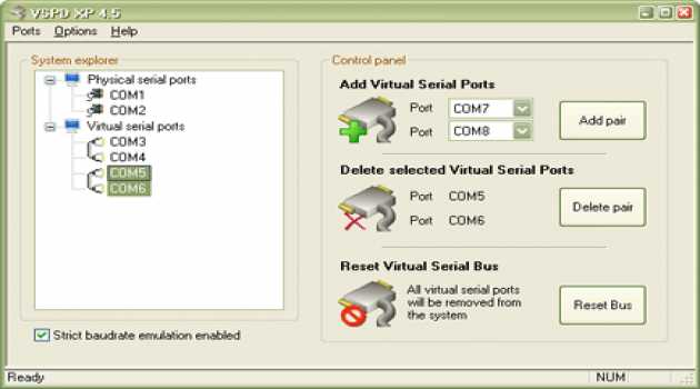 Virtual Serial Port Driver XP4.5