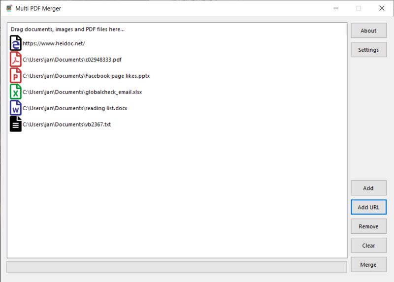 Multi PDF Merger
