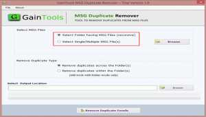 GainTools MSG Duplicate Remover