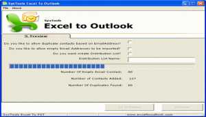 SysTools Excel to Outlook
