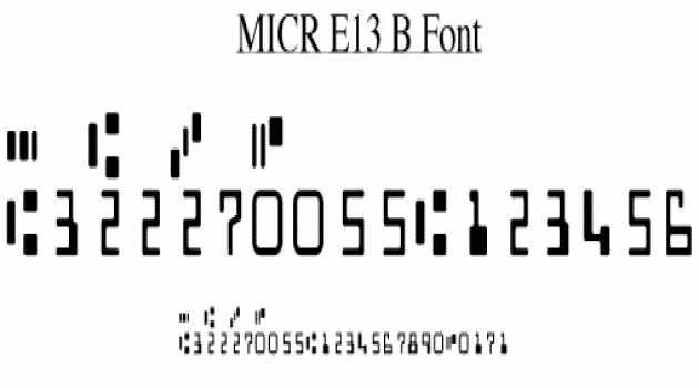 MICR E13B Match font