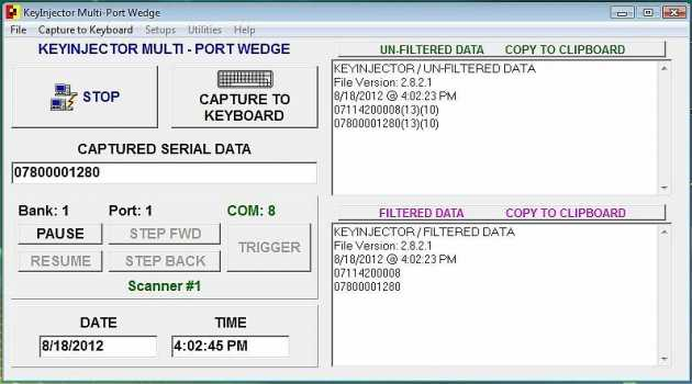 UniWedge Multi Port RS232 Software