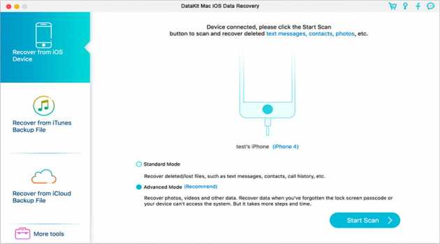DataKit Mac iOS Data Recovery