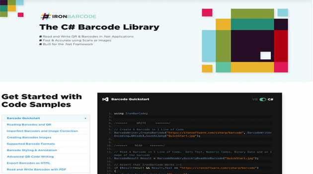 The C# Barcode Library
