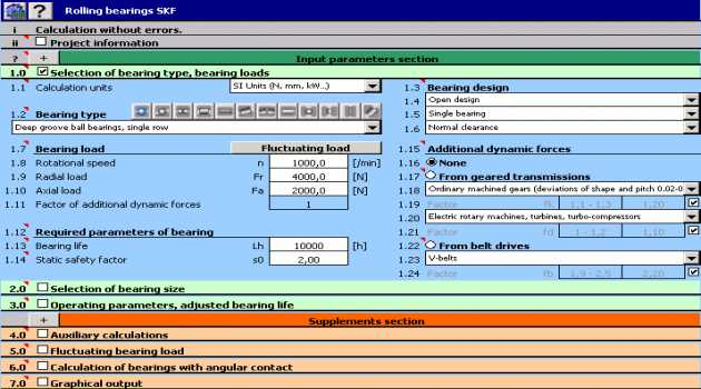 MITCalc Rolling Bearings Calculation I