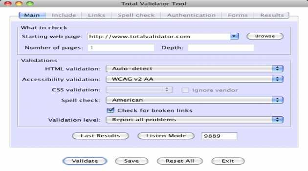 Total Validator Tool for OSX