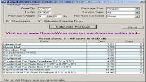 USPS Postage Rates and Tracking