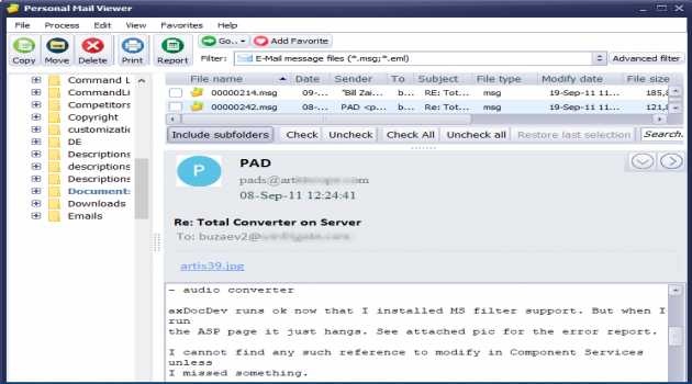 Personal Mail Viewer