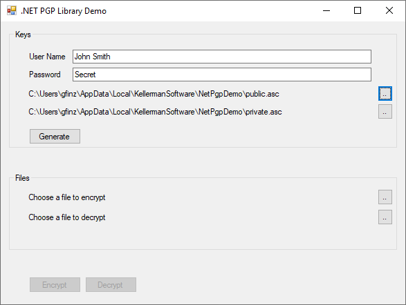 .NET PGP Library