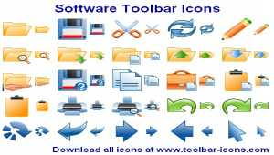Software Toolbar Icon Library